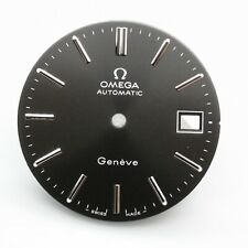 Replacement 29.5mm Dial For Omega Geneve Black Automatic Caliber 1010 1011 1012