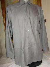 Chemise habillée coton GRIS manches longues OLYMP LUXOR modern fit 43/17 L