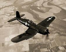 WWII AIRCRAFT VINTAGE PHOTO USMC F4U CORSAIR FIGHTER MARINES 1943 #21083