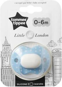 Tommee Tippee Little London Silicone Reversible Dummy Pacifier Soother 0-6 M