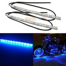 2pcs Blue 12-SMD LED Strip Light for Car Motorcycle Under Glow Accent Lighting