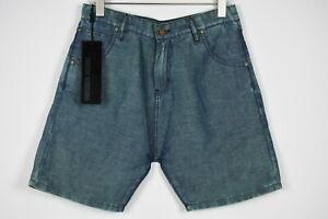 TAKESHY KUROSAWA CORTO LINO Men's W34 Denim Look Treated Shorts 12964*mm