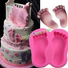 Baby Feet Shower Silicone Fondant Mould Chocolate Sugar craft Cake Mold Baking