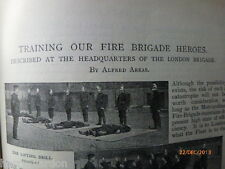 London Fire Brigade Fighters Heroes Training Old Victorian Antique Article 1898