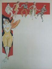 """""""CLOWNESSE AUX CIMBALES"""" Affiche originale entoilée Litho Ch. ROUSSEL 64x84cm"""
