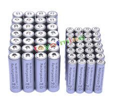 28x 3000mAh AA + 28x AAA 1800mAh 1.2V NI-MH recargables batería 2A 3A color Gris