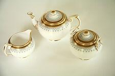 VTG Copeland Spode 3 Piece Tea Serving Set Pattern R3615 Pot Sugar Bowl Creamer
