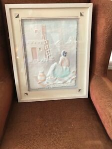 "South Western Hand Cast Framed 3D Wall Art ""Song Of The Morning""  by Priscilla"