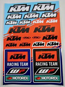 NEW Factory Effex KTM Racing OEM Sticker Decal Sheet Graphics Motorex WP