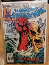 THE AMAZING SPIDERMAN 251 LAST OLD COSTUME MARVEL SECRET WARS
