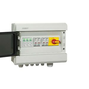Solar PV Combiner Box Fuses with Surge Protection 2 Ways In 1 Way Out. 1x MPPT