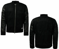Adidas Originals Run DMC Limited Edition Leather Sleeves Mens Bomber Jacket A44A