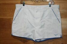 Men's Vintage Spalding Classic Tennis Shorts, White With Blue Trim Size 36