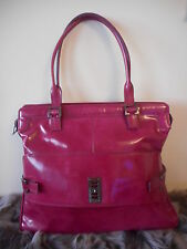 Mulberry Net A Porter Maggie Large Spazzalato Dark Pink Shoulder Bag