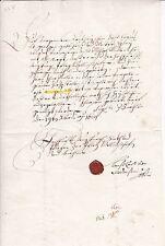 Historische Handschrift 1681 Isny Hollenhof Linden Werdenstein Siegel Baden rar