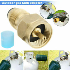 Camping Stove Butane Gas Metal Adapter Convert Fuel Canister  ^S P1 PaZCH
