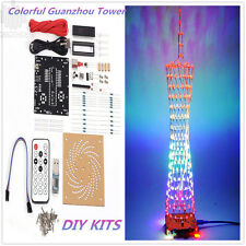 DIY Kits Colorful Light Cube Electronic Tower Music Spectrum LED Lamp for Decor