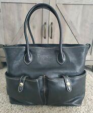 DOONEY & BOURKE Florentine Vacchetta Black Leather Large Handbag Purse Satchel