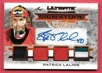 2019-20 Patrick Lalime Leaf Ultimate Signature Relics Auto 12/15 - Senators