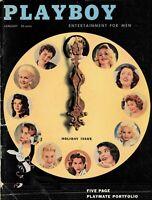 PLAYBOY JANUARY 1957 Cover - 1956 Playmates June Blair Jimmy Durante (2)
