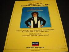 Kiri Te Kanawa is #1 Classical Crossover Artist for 1986 Promo Poster Ad mint c.