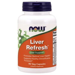 NOW Liver Refresh 90 Caps, Liver Support, Clinically Developed FREE SHIPPING