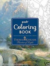 Posh Light Thomas Kinkade Artist Adult Colouring Book Creative Art Therapy Relax