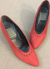 Vintage Red Court Shoes Size 38.5