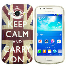 Schutzhülle f Samsung Galaxy Ace 3 S7270 Case Tasche TPU keep calm carry on