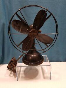 "Antique Diehl B2911 Oscillating 9"" Table Fan"