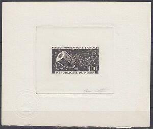 Niger 1964 ** Mi.60 Epreuve Artiste signée ESSAY Weltraum Space Espace Satellite