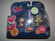 New Littlest Pet Shop Porcupine/Hedgehog #1321 & Baby Hamster #1322 Collectible