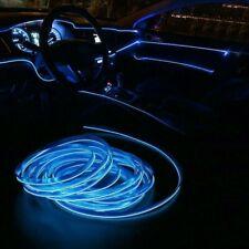 Blue LED Auto Car Interior Decor Atmosphere Wire Strip Light Lamp Accessories US