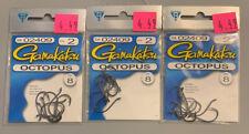 3 Packs Gamakatsu Octopus Hooks Size 2 02409