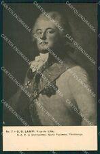 Firenze Città Mostra Ritratto Italiano 1911 Lampi cartolina XB4993