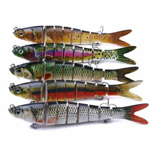 5pcs/set Jointed Fishing Lures 13.7cm/27g Wobblers Swimbait Hard Bait 8-Segment