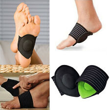 1Pair Cushioned Arch Supports Relief Achy Pain Feet Shock Absorber Foot Healthy