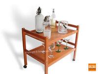Danish Modern Teak Bar / Tea Cart by BRDR FURBO Denmark Mid Century MCM Denmark