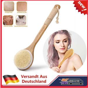 Badebürste Rückenbürste Massagebürste Saunabürste langer Stiel Körperbürste DE
