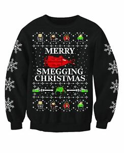Red Dwarf Inspired Adults Novelty TV Christmas Jumper Sweatshirt