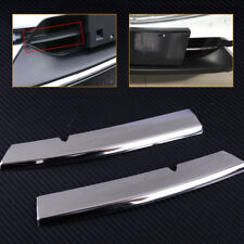2pc Chromed Steel Grill Strips Trim Cover for Mazda CX5 2017 18 Bumper Air-inlet