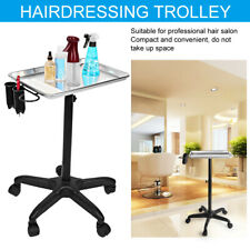 Salon Hairdressing Trolley Spa Barber Adjustable Height Rolling Cart Shop Hair