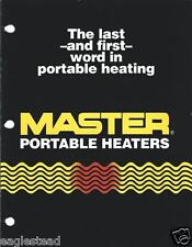 Equipment Brochure Master Portable Construction Farm Heaters 1990 E2117