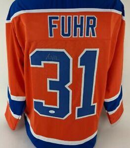 Grant Fuhr Signed Edmonton Oilers Custom Jersey (JSA Witness COA)