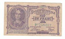 (B.16) BILLET DE  1 FRANC BELGE SOCIETE GENERALE 1916 (SUP)