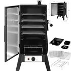 """Vertical Charcoal Smoker 42"""" BBQ Barbecue Grill w/ Temperature Gauge Black US photo"""