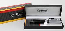 Regal Twin Set Executive Darwin Black Lacquer Chrome Fluted Pen Parker Refills