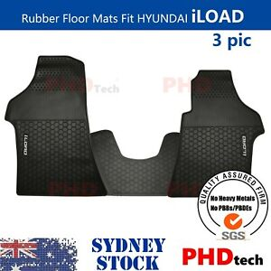 Tailor Made All Weather Rubber Floor Mats fit HYUNDAI iLOAD & iMAX 2008-2021