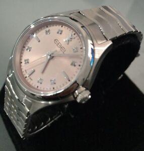 Ladies Genuine Ebel Wave Pink Swiss Designer Watch Diamonds 1216217 Sapphire