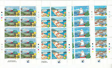 ASCENSION ISLAND MNH STAMP SHEETS 2008 RAYMOND BRIGGS CHRISTMAS SG 1020-1023